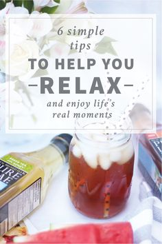 So many of us are glued to our phones and always on the go. Here's 6 simple relaxation tips that can help you relax and enjoy real moments in your life, starting now!