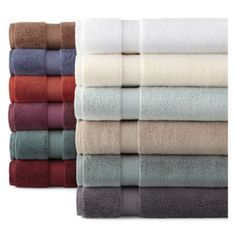 Best Bath Towels jcp | Royal Velvet® Egyptian Cotton Solid Bath Towels Neutral Bath Towels, Best Bath Towels, Classic Baths, Egyptian Cotton, Velvet, Textiles, Bathroom, House, Shopping