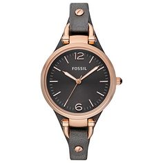 """Looking for FOSSIL Watches? We stock a huge range, offer great prices and a free delivery - Black Women's Watch FOSSIL """"GEORGIA"""" online today from our Madisson Jewellery Shop Black Leather Watch, Grey Leather, Soft Leather, Georgia, Fossil Watches, Women's Watches, Dress Watches, Gold Watches, Ladies Watches"""