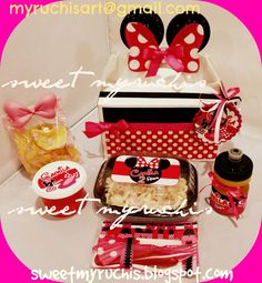 Fiesta Minnie, Fiestas infantiles, ideas Fiesta Minnie, box lunch fiesta sweetmyruchis.blogspot.com