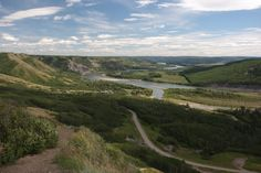 Peace River, nr Fort St John, B. Canada Once you have drank from the mighty Peace, you shall return! Travel Around The World, Around The Worlds, Places Ive Been, Places To Go, Western Canada, Travel Stuff, Ticks, British Columbia, Roads