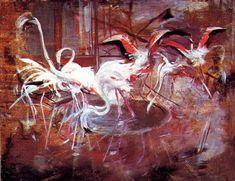 Pink Palace Ibis in the Vesinet (Ibis del Palazzo Rosa a Vesinet) - Giovanni Boldini Giovanni Boldini, John Singer Sargent, Palazzo, Canvas Art Prints, Oil On Canvas, Flamingo Painting, Pink Palace, Architecture Art Design, Portraits
