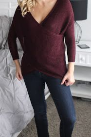 RD Style Wakefield Crossover Sweater - would love in my next fix - love the neckline and the longer length. Maybe need to wear a big larger so it hangs like this
