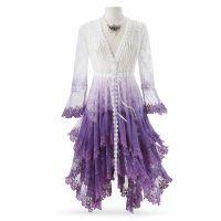 Purple Ombré Long Lace Jacket
