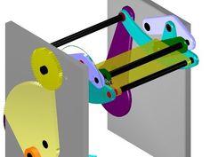 Straight Line Mechanism - Six (6) Bar Mechanism - Translating Link MechDesigner - YouTube