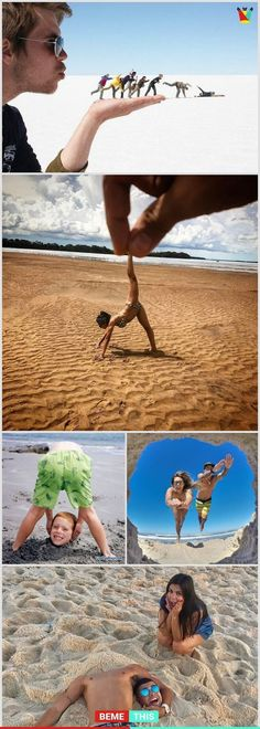 Here Are 16 Cool And Creative ideas For Your Memorable Vacation Photos Fotos Photos Bff, Artsy Photos, Creative Photos, Cute Photos, Funny Photos, Creative Ideas, Fun Ideas, Creative Inspiration, Ideas Para