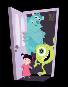 Movie Friday: 8 Alternative Movie Posters for Monsters Inc. #disney #pixar #design