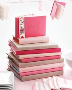 Book Themed Baby Shower: Parenting books for Mom, Cloth books for baby, Keepsake Photo Albums... endless possibilites!