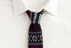 Knitted tie...
