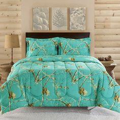 Realtree Teal Camo Comforter Set: Shopko