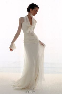 Le Spose di Gio - I actually really like this style of dress for my Momma to wear. @lagniappe17 This should either be a Mother of the bride dress, or.. third time's a charm! ;)