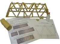"Popsicle Bridge Kit: 17"" Warren Truss Bridge (Easy)"
