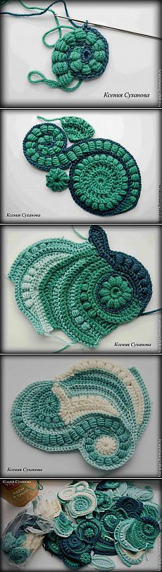 Crochet Patterns Yarn some inspiration for freeform crochet Art Au Crochet, Crochet Motifs, Freeform Crochet, Love Crochet, Irish Crochet, Crochet Crafts, Yarn Crafts, Crochet Flowers, Crochet Stitches