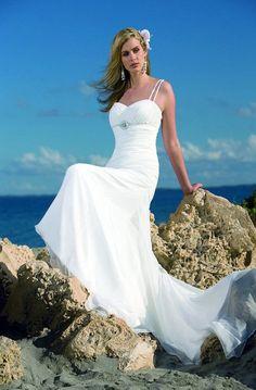 The Beauty of a Beach Wedding Dress. #fashion