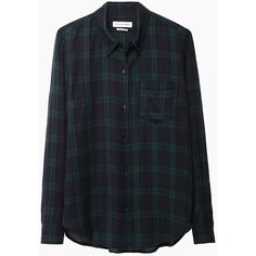 Isabel Marant Étoile Ipa Shirt (335 CAD) ❤ liked on Polyvore featuring tops, shirts, flannels, camisas, checked shirt, long sleeve tops, long sleeve flannel shirt, green top and burgundy long sleeve shirt