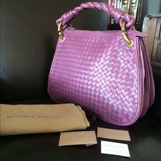 More pics--Gorgeous lavender Bottega Veneta Hobo See original listing for more info. Bottega Veneta Bags Hobos