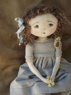 :: Crafty :: Cloth Doll :: Abigaél...ses yeux reflètent le bleu du ciel..