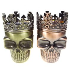 Fashion Crown Skull 3Part Metal Herb Smoking Grinders Tobacco Cigarette Crusher Kaloud Moledor for Hookah Shisha Smoke #Affiliate