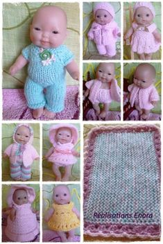 Ladyfingers elaine s doll patterns Bitty Baby Clothes, Boy Doll Clothes, Knitting Dolls Clothes, Crochet Doll Clothes, Knitted Dolls, Baby Clothes Patterns, Doll Patterns, Sewing Patterns, Stitching Patterns