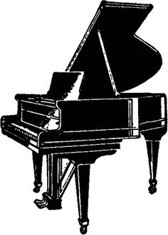 This is a Vintage Grand Piano Image! This is a cute Black and White Illustration of an old Grand Piano with the lid raised up. Vintage Images, Vintage Art, Piano Pictures, Piano Art, Graphics Fairy, Free Graphics, Stencils, Grand Piano, Still Life Art
