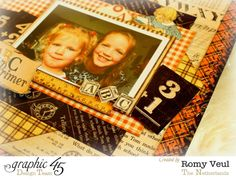 An ABC Primer layout by the amazing Romy Veul #graphic45