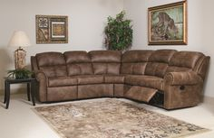 Serta Upholstery Reclining Sectional $996. in moss green