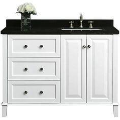 32++ 48 inch bathroom vanity top right side sink inspiration