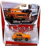 Name: Grem with Weapon Die Cast Car Manufacturer: Mattel Toys Series: Disney Pixar Cars Mainline 1:55 Die Cast Cars Release Date: November 2012 For ages: 4 and up Details (Description): All your favorite characters from the Disney Pixar film, CARS 2, in 1:55th scale. With authentic styling and details, these die cast characters are perfect for recreating all the great scenes from the movie. Collect them all!