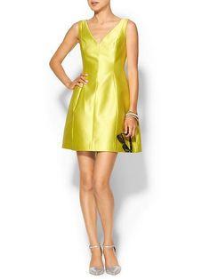 Kate Spade Structured Silk Mini Fit & Flare Dress w/ Pockets Cabanelle sz 8 $398 #katespade #Fitandflare #Casual