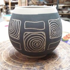 Making more cups. #cup #pottery #ceramics #sgraffito