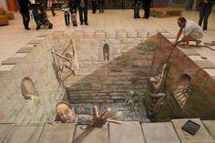 Street Art, increibles imagenes 3D con Tizas! - Taringa!
