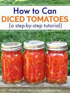 This easy step-by-step photo tutorial will have you saving money and canning you. - This easy step-by-step photo tutorial will have you saving money and canning your own diced tomato - Canning Tips, Home Canning, Tomato Canning Recipes, Canning Tomato Juice, Canning Salsa, Canned Tomato Sauce, Tomato Soup, Garden Tomato Recipes, Canning Soup