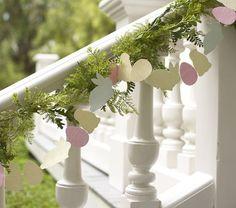 Glitter bunny garland