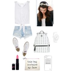Başlıksız #11 by cansu-sakin on Polyvore featuring polyvore, moda, style, Monsoon, Zara, Converse, MCM, Nixon, River Island and Rimmel
