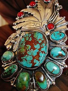 Stunning Chavez turquoise and sterling cuff