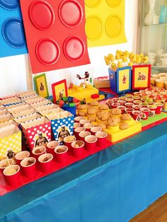 My House of Giggles: A Lego Party (Finny turns Ninja Birthday, Birthday Party Snacks, 2nd Birthday Parties, 7th Birthday, Lego Cake, Superhero Party, Party Planning, Party Time, Lego Mario