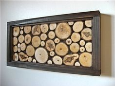 Rustic Reclaimed Wood Art  Wood Slices by ModernRusticArt on Etsy