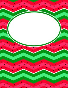 Free printable watermelon chevron binder cover template. Download the cover in JPG or PDF format at http://bindercovers.net/download/watermelon-chevron-binder-cover/