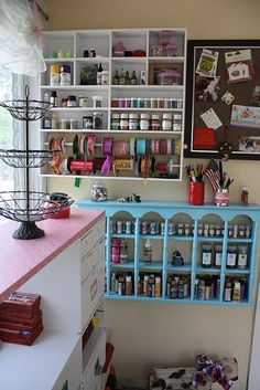 Dear Santa, please bring me a craft room like this.  And a pony. Haha