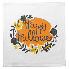 Feliz Halloween Servilleta Imprimida
