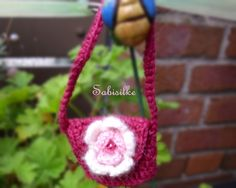 Puppenkleidung - Handtasche mit Blüte *** rosa *** für Barbie - ein…