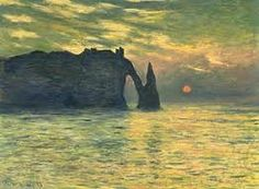Monet - I rest my eyes as the sun draws the day an end
