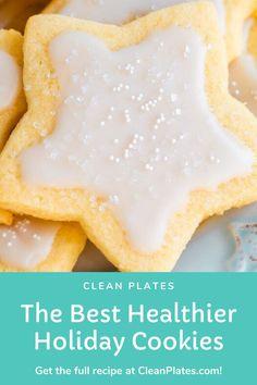 Healthy Holiday Recipes, Holiday Meals, Winter Recipes, Keto Holiday, Gluten Free Sugar Cookies, Healthy Cookies, Low Sugar Desserts, Healthy Sugar