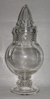 Antique Tiffin Dakota Gl Apothecary Candy Jar W Lid 11 1 2 Tall