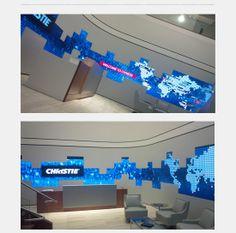 108 Christie #MicroTiles: videowall a parete curva realizzata da @Excogitare