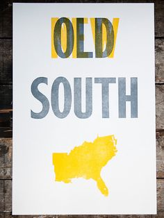 The OLD south & the NEW south.  I love how Virginia is actually included because yes we are part of the south♥