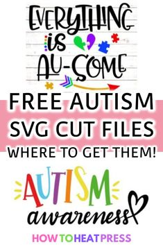 cricut vinyl projects A round up of FREE Autism SVG Files. Support and encourage those with autism. Cricut Heat Transfer Vinyl, Cricut Iron On Vinyl, Teen Projects, Vinyl Projects, Vinyl Monogram, Monogram Shirts, Vinyl Shirts, Monogram Fonts