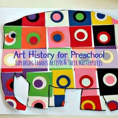 Easy Ideas to Explore Art History with Preschoolers Art History for Preschool by PlaygroundParkbench - a series to introduce your young artist to art history, famous artists and their masterpieces. Complete with list of reference books, art supplies a Arts And Crafts For Teens, Art And Craft Videos, Art For Kids, Preschool Art Projects, Art Activities, Preschool Artist Theme, Preschool Art Lessons, History Activities, Therapy Activities