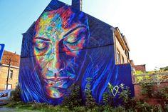 Wall paints, Muurschilderingen, Peintures Murales,Trompe-l'oeil, Graffiti, Murals, Street art.: Roeselare - Belgium David Walker