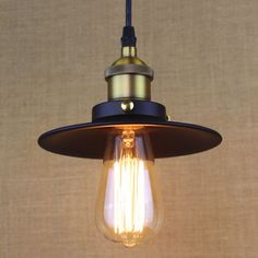 Loft industry black small pendant light fitting E27 Edison bulb vintage style…